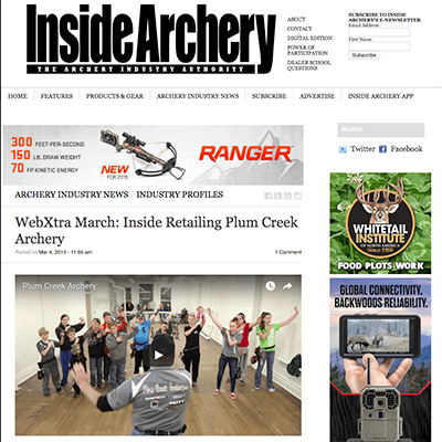 Plum Creek Archery is featured in National Magazine! thumbnail